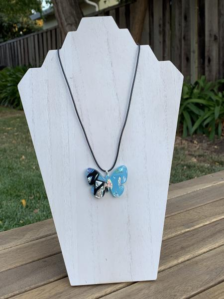 Fused Glass Butterfly Pendant - Dichroic