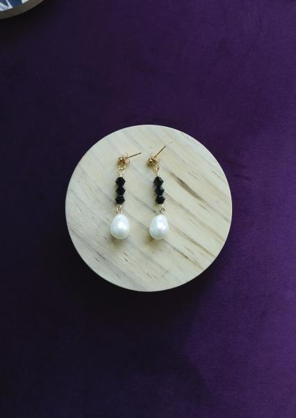Dress in Black & White Earrings