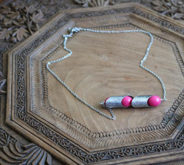 Fuchsia Bar Necklace