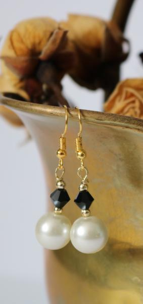 Black and White Fashion Earrings