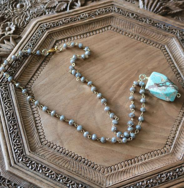 Iridescent Turquoise Necklace