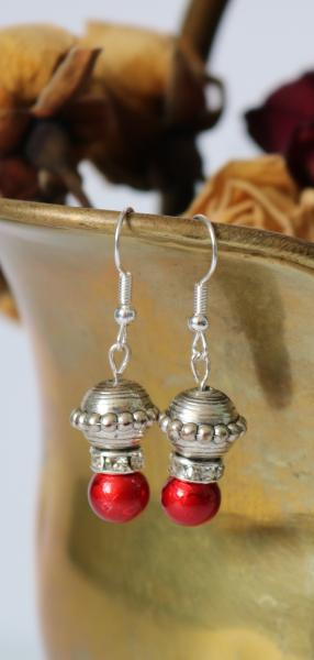 Elegant Deep Red Earrings