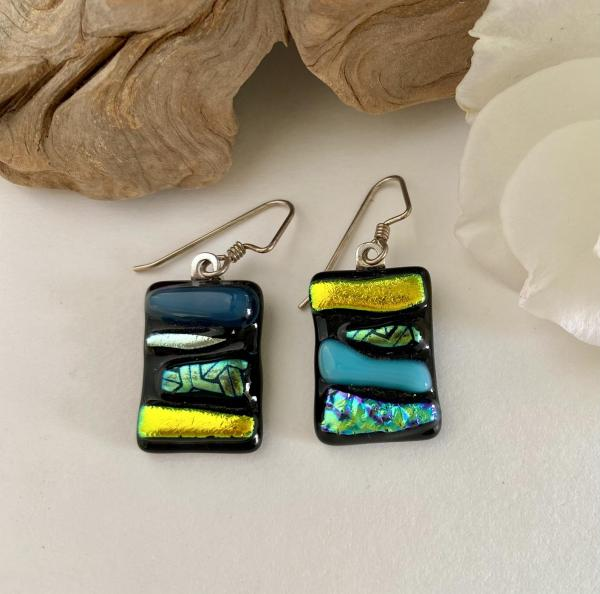 """sunny day""  glass earrings"