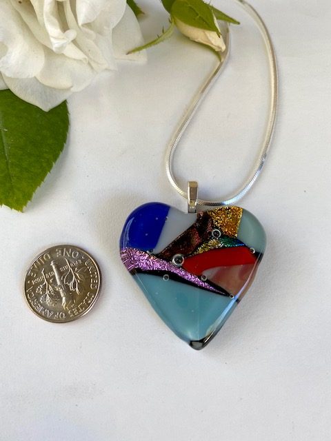 Heart Necklace with option for Earrings