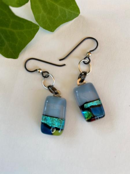 One of A Kind glass earrings