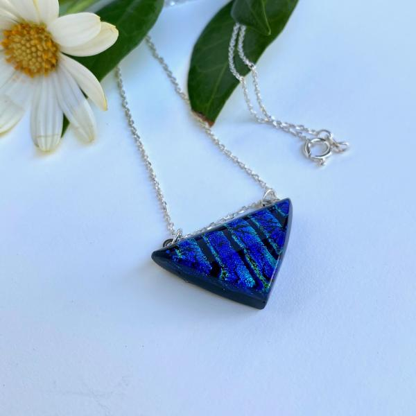 Small triangle Necklace with Sterling Chain