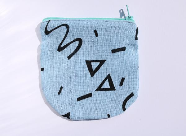 Confetti extra pocket zipper pouch