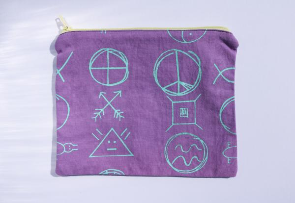 Symbols in-between zipper pouch picture