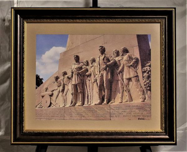 Framed Photography on Canvas - Bowie & Bonham, East Face of the Cenotaph at The Alamo