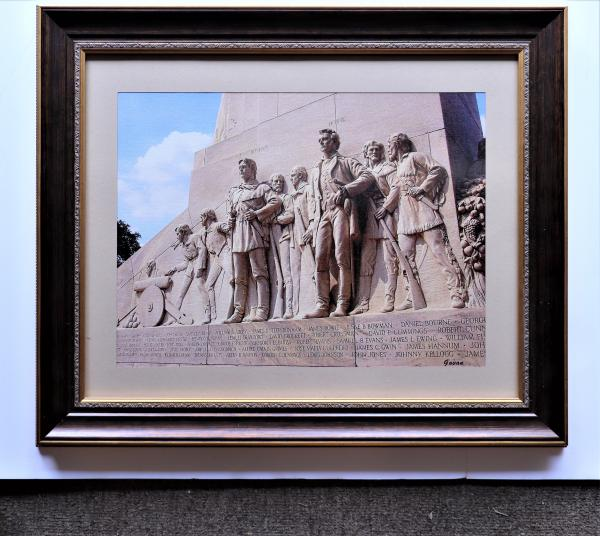 """Photography"", Travis and Crockett, West face of the Cenotaph at The Alamo -"
