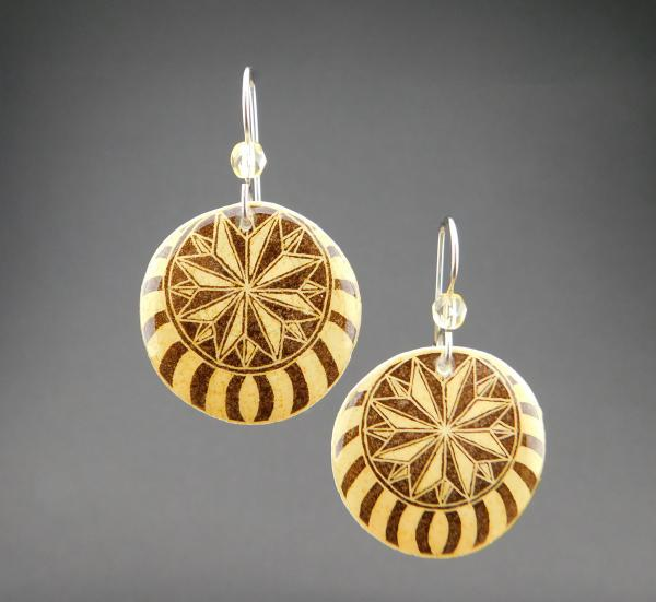 Goose Egg Shell Earrings- Brown Nautilus