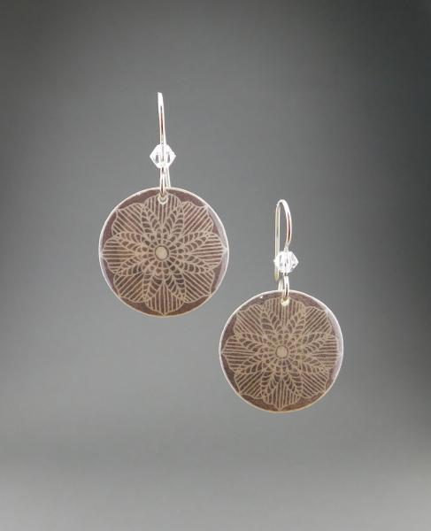 Goose Egg Shell Earrings- Grey Lace picture