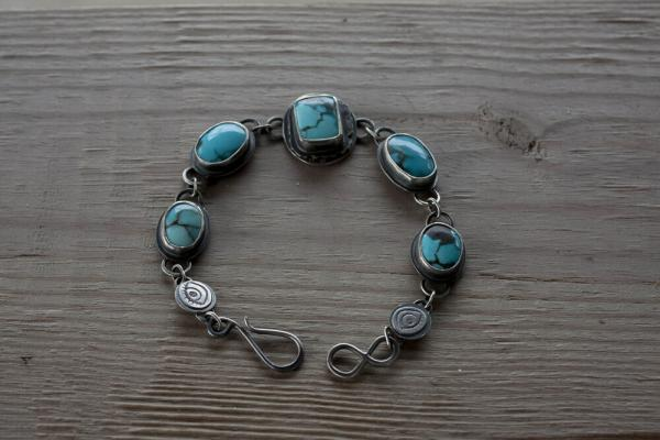 Lone Mountain Turquoise Link Bracelet