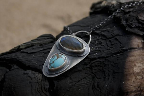 Lone Mountain Turquoise and Labradorite Necklace picture