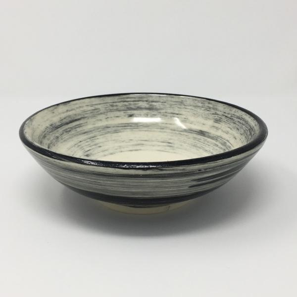 Black and White Bowl with some Gray