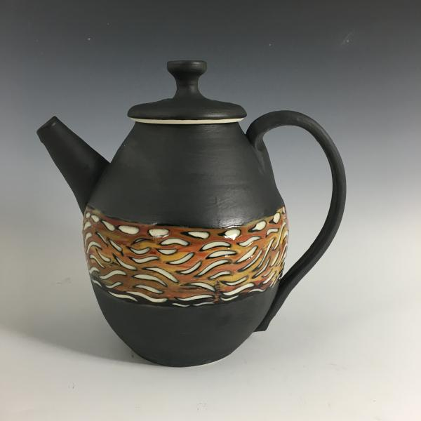 Black Banded Tea Pot