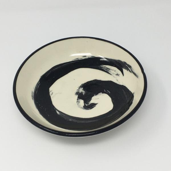 Black and White Brush Stroke Bowl picture