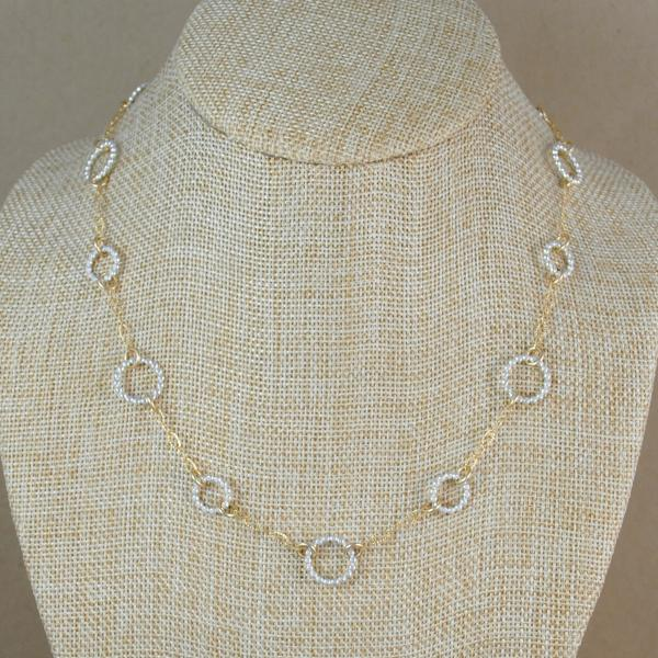 Beaded Floating Chain - mixed metals
