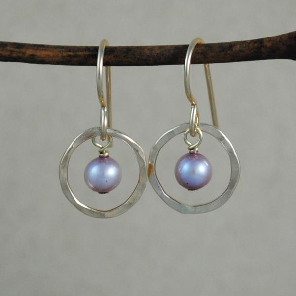 Pearl Halo Earrings - gold-filled