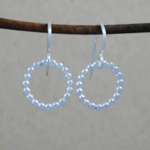 Beaded Earrings - sterling silver