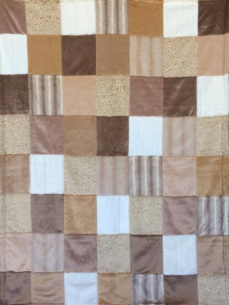 Antique & Beige Patchwork Blanket