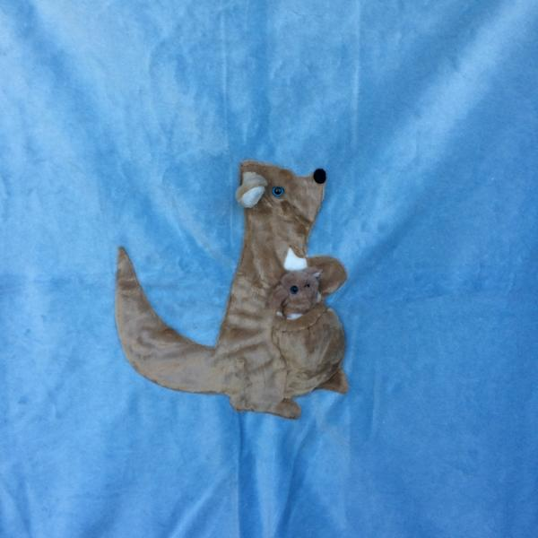 Kangaroo Applique Blanket