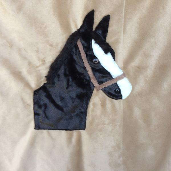 Horsehead Applique Blanket