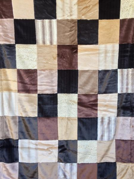 Browns with Antique Patchwork Blanket