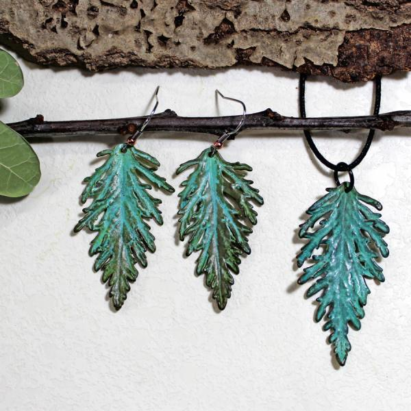Russian Sage Pendant and Earrings