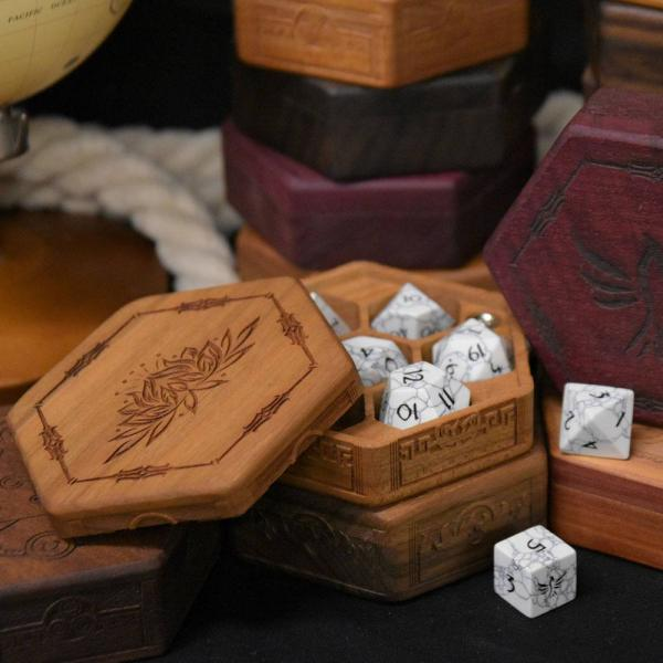 Roll for Loot: Hex Chest Dice Box