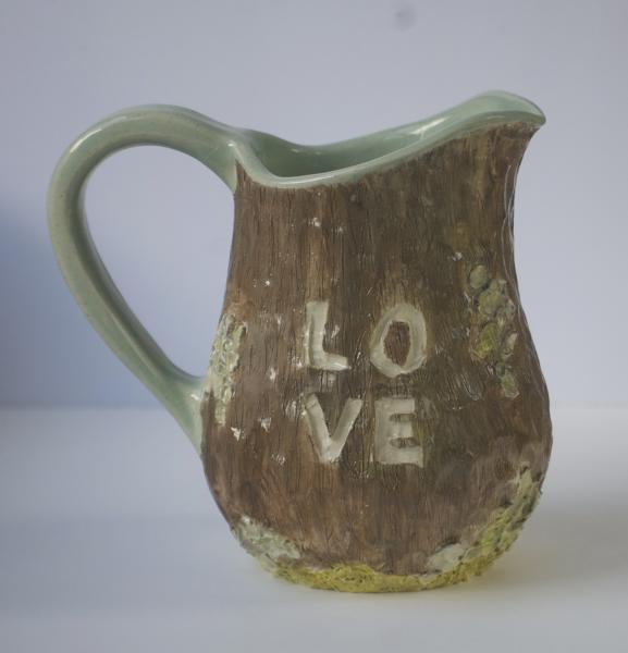 Carved LOVE Pitcher