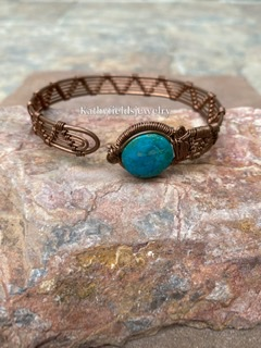 Turquoise copper bracelet picture