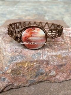 Spiny oyster copper bracelet picture