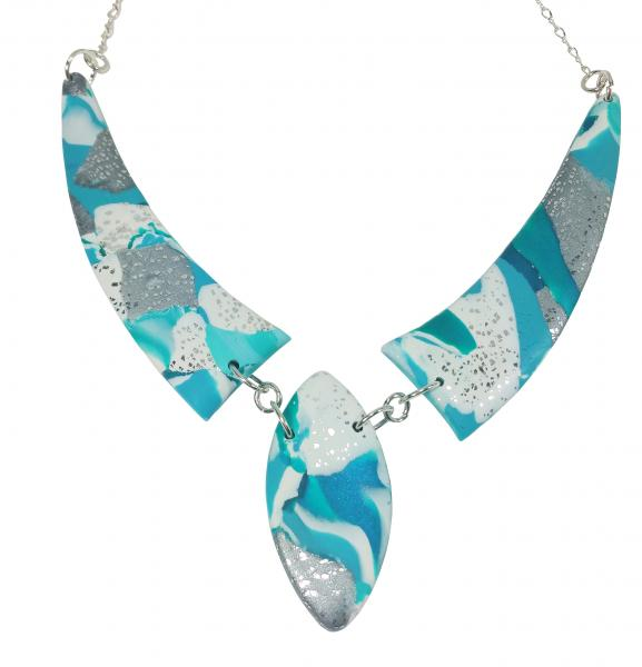 Mosaic 3 Piece Drop Necklace - Turquoise Water