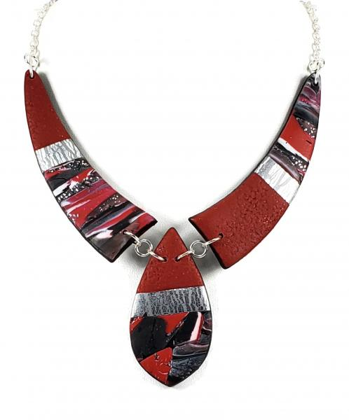 Mosaic 3 Piece Drop Necklace - Red #2