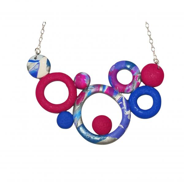 Large Bunches of O's Necklace - Blue