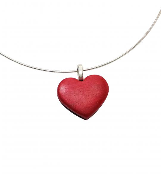 Red Shiny Heart Pendant - Small