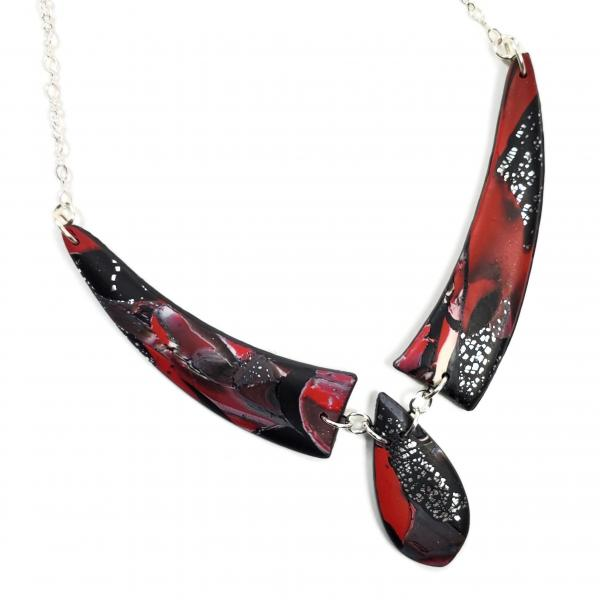 Mosaic 3 Piece Drop Necklace - Red #3