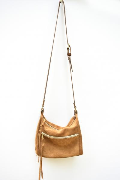 Zoey Crossbody Bag - Suede and Leather Crossbody