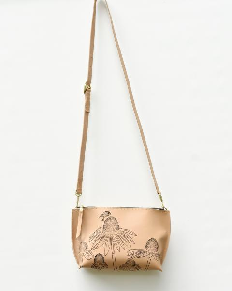 Busy Bee Minimalist Leather Crossbody
