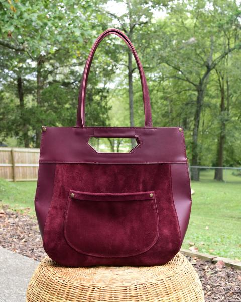Maya Leather and Suede Tote