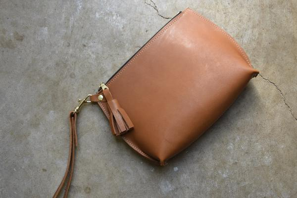 Everyday Leather Wristlet, Leather Clutch