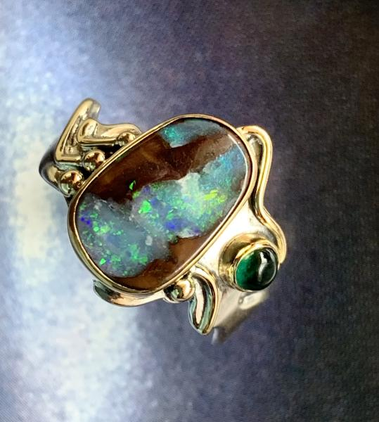 Opal  in gold and sterling