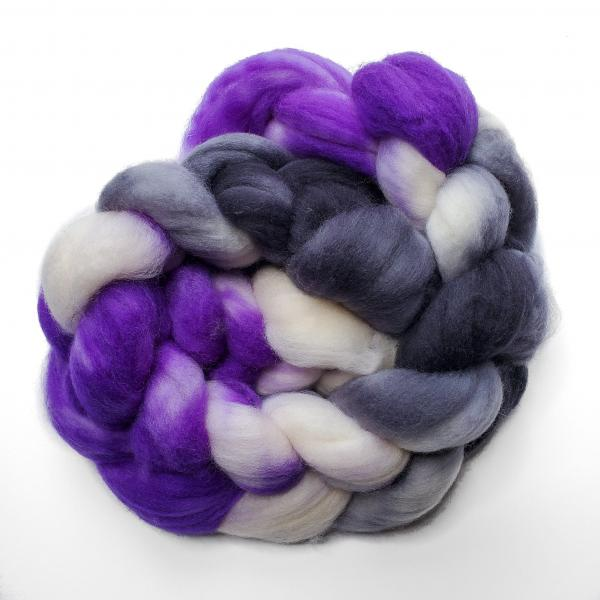 Asexual Pride - Unspun Roving - 4 oz, 100% Superwash Merino