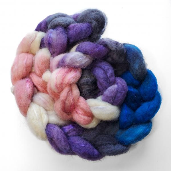 Genderfluid Pride - Unspun Roving - 4 oz, 70% Bluefaced Leicester 30% Nylon