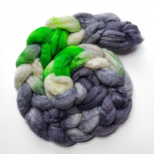 Agender Pride - Unspun Roving - 4 oz, 100% Superwash Merino