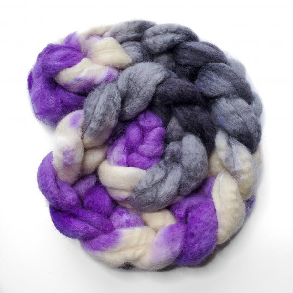 Asexual Pride - Unspun Roving - 4 oz, 70% Bluefaced Leicester 30% Nylon picture