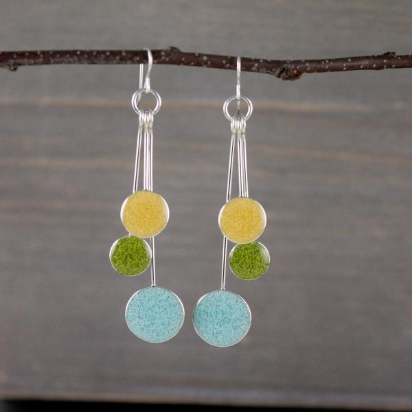 Powder, Lime, and Butter Resin Earrings
