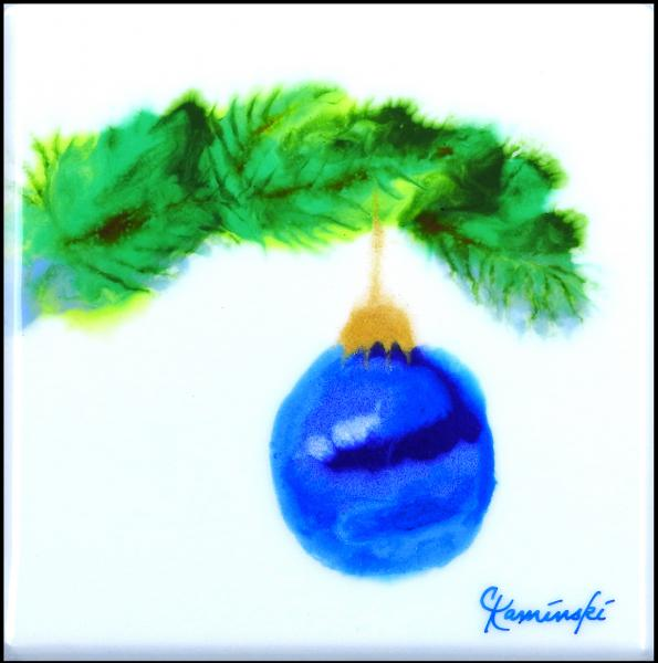 Blue Ornament on Bough #2