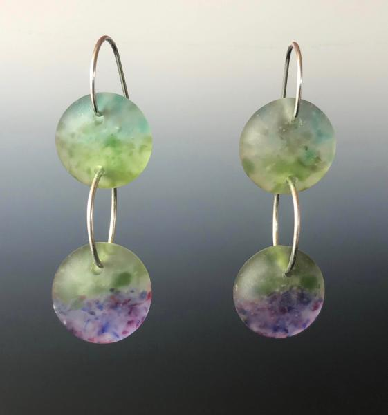 Double Drop Art Glass Earrings